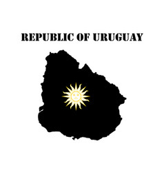 Map of the republic of uruguay vector