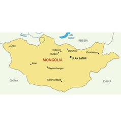 Mongolia - map vector
