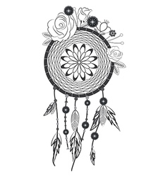Native american dreamcatcher vector