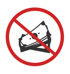 no money sign vector image