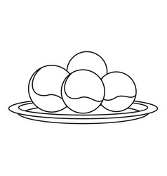 Propolis sphere icon outline style vector