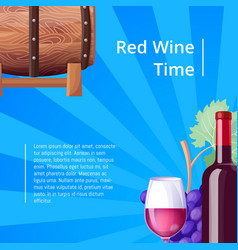 red wine time poster stripes vector image