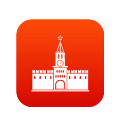 russian kremlin icon digital red vector image
