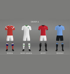 Set of football kit vector