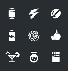 set of various energy icons vector image