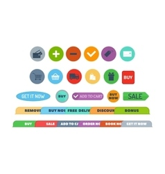 Shop buttons set vector