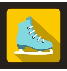 Skates icon in flat style vector image