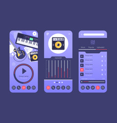 smartphone application for music vector image