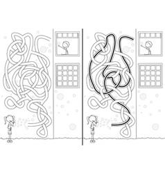Soap bubbles maze vector image