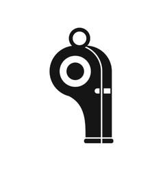Sport whistle icon in simple style vector image
