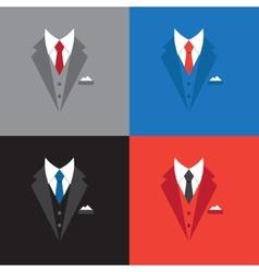 Success leader concept businessman suit vector