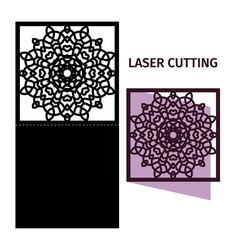 Template for laser cutting vector