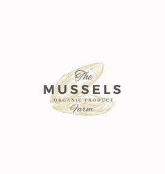 The mussels farm abstract sign symbol or vector