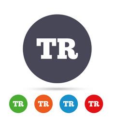 Turkish language sign icon tr translation vector