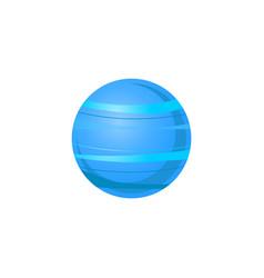Uranus blue planet of solar system in flat style vector
