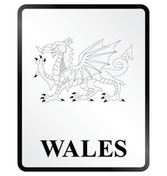 Wales Sign vector image