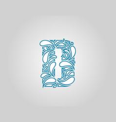 Water splash initial d letter logo icon vector