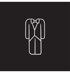 Wedding tuxedo sketch icon vector image