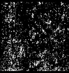 white grainy texture isolated on black vector image
