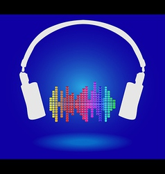 White headphones vector image