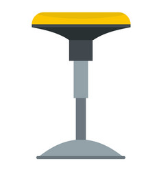 Yellow bar stool icon isolated vector