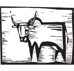 African Cow vector image vector image
