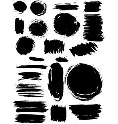 Blots Splash banners set Grunge texture vector image vector image