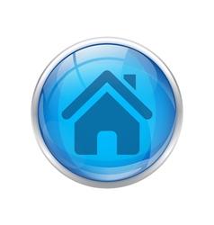 blue home button vector image vector image
