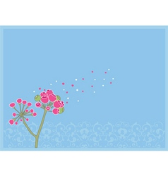 pink blossom vector image