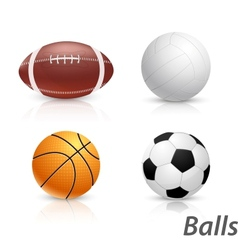 Set of balls vector image vector image