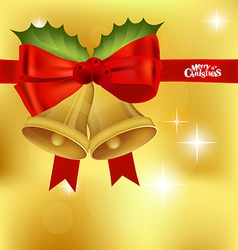 Christmas red ribbon background vector image vector image