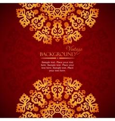 Elegant mandala indian invitation template vector image