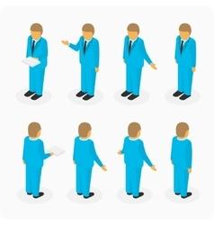 Figures of men in suits vector image