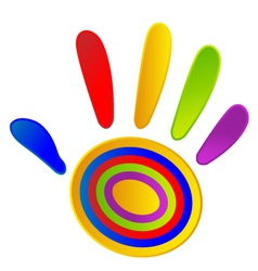 Hand painted with vivid colors vector image vector image