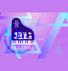 jazz festival live music concert poster vector image