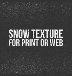 snow texture for print or web vector image