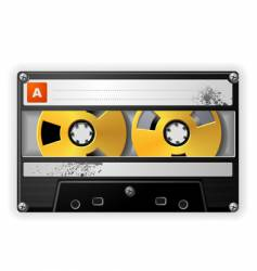 audio tape cassette vector image vector image