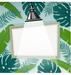 background with empty frame or flip chart vector image vector image