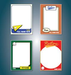 Baseball Cards vector image