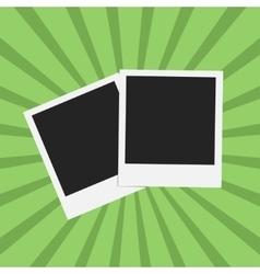 Flat photo frame web icon vector image vector image