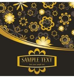 Golden flowers background vector image vector image