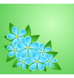 Greeting card paper flower with a place for text vector image vector image