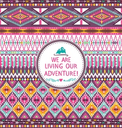 Seamless tribal pattern with geometric pattern vector image vector image