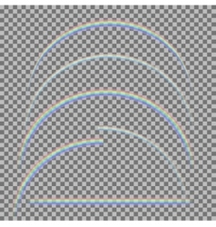 set of different realistic transparent vector image