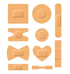 Set of medical plasters vector image vector image