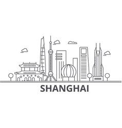shanghai architecture line skyline vector image vector image