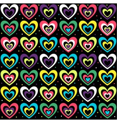 background with the coloured hearts vector image vector image