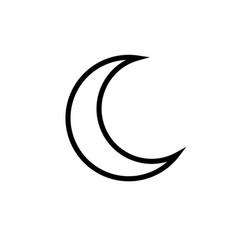 crescent moon icon vector image