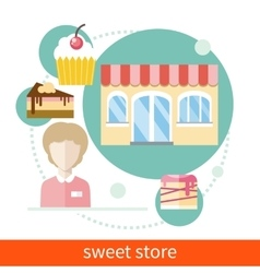 Sweet Store vector image