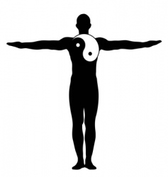 Yin yang man vector